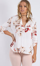 Johnny Collar Vintage Floral Printed Shirt