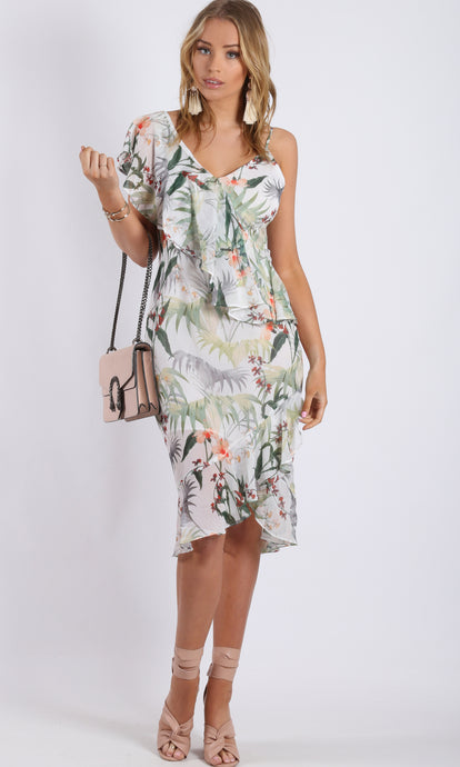 RC0785-2TE Wrap Sage Floral Dress (Pack) On Sale