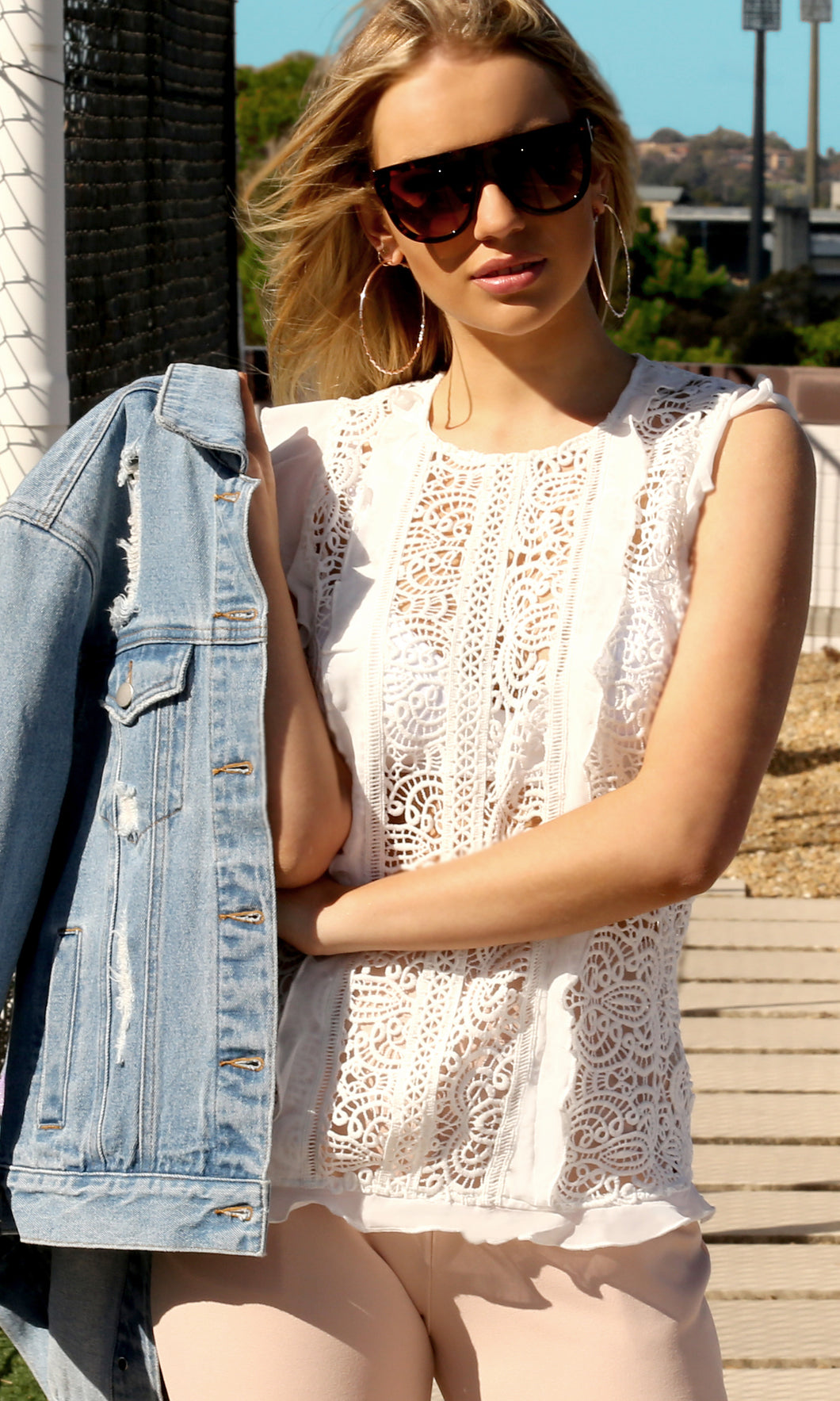 Crochet Style Lace Top