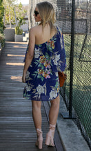 One Shoulder Floral Dress