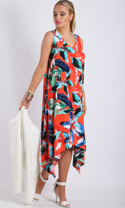 VS7243NC Orange Tropic Tunic Dress (Pack) On Sale