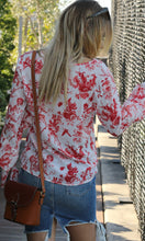 RV0930SS Red & White Floral Top (Pack) On Sale