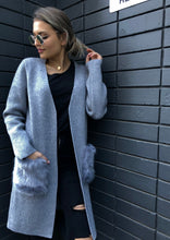 AL17329TB Longline Faux Fur Patch Pocket Cardigan (Pack) On Sale