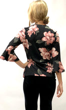 JS0170-11TB Bell Sleeve Floral Wrap Style Top (Pack)