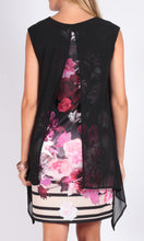 Dark Floral Overlay Dress