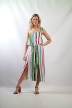Q006SS Stripe Overlap Dress(Pack)