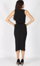 TG2517SS Sleeveless Asymmetric Ruche Dress (Pack)