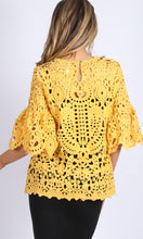 RV0832SS Yellow Crochet Lace Top (Pack) On Sale