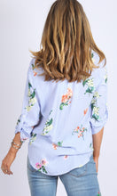 Classic Johnny Collar Floral Printed Shirt