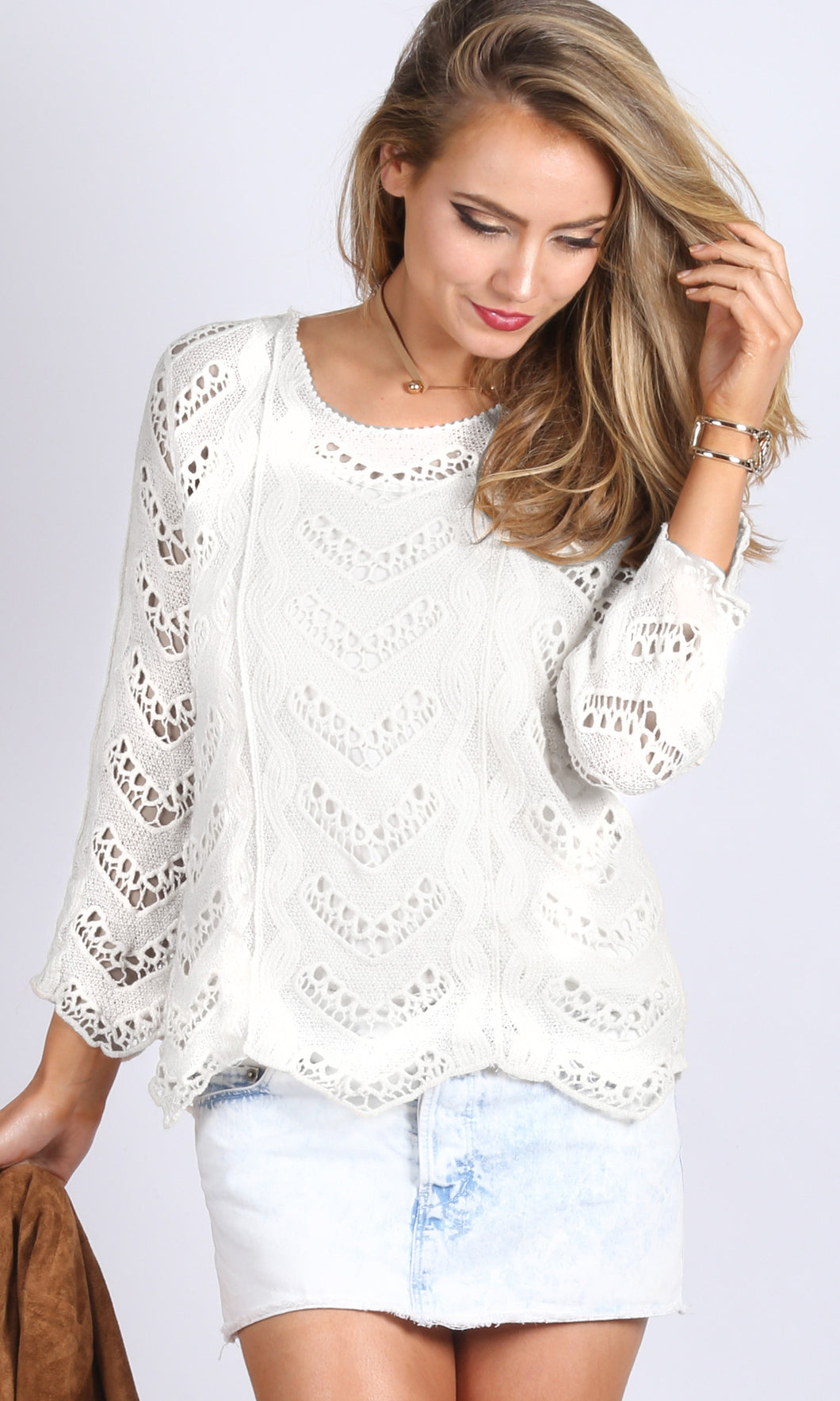Cut Out Spring Knit