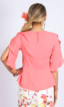 Pink Peplum and Ruffle Top