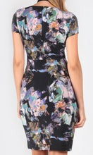 AS0137-11NC Dark Floral Wrap style Dress (Pack)