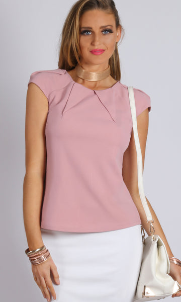 Power Shoulder and Neckline Top