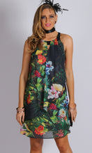Halter Neck Chiffon Floral Dress