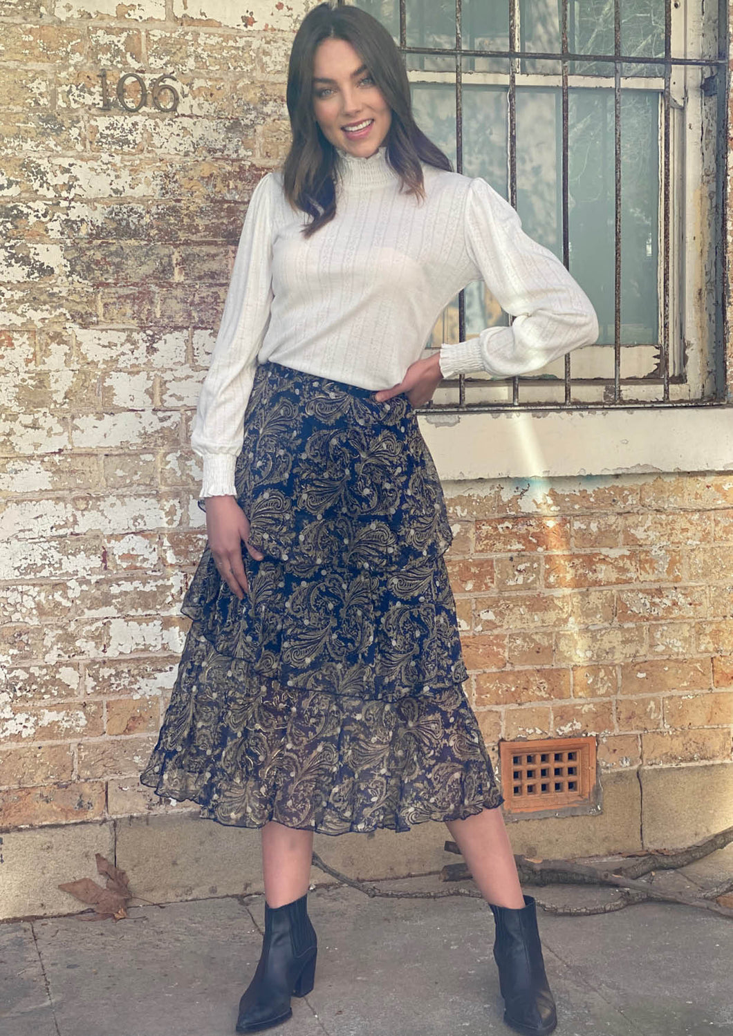 LA0211-2SS Paisley Print Skirt (Pack) New Arrivals