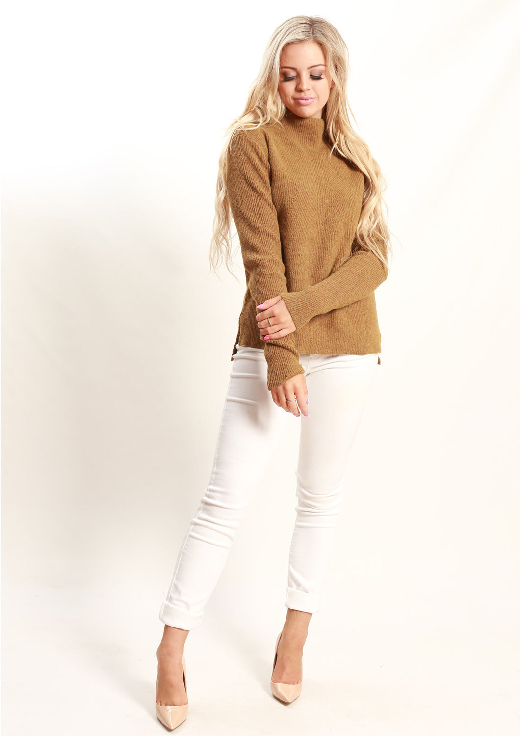 LY1987B Turtle Neck Long Sleeve Knit Top (Pack) New Arrivals