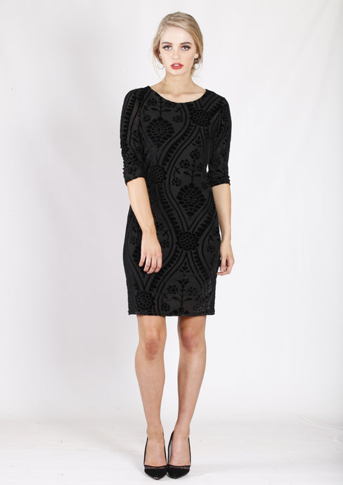 ZW16495NC 3/4 Sleeve Black Dress (Pack) New Arrival