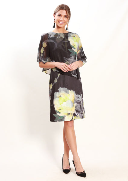 LA0125NC Chiffon Floral Dress (Pack) New Arrival