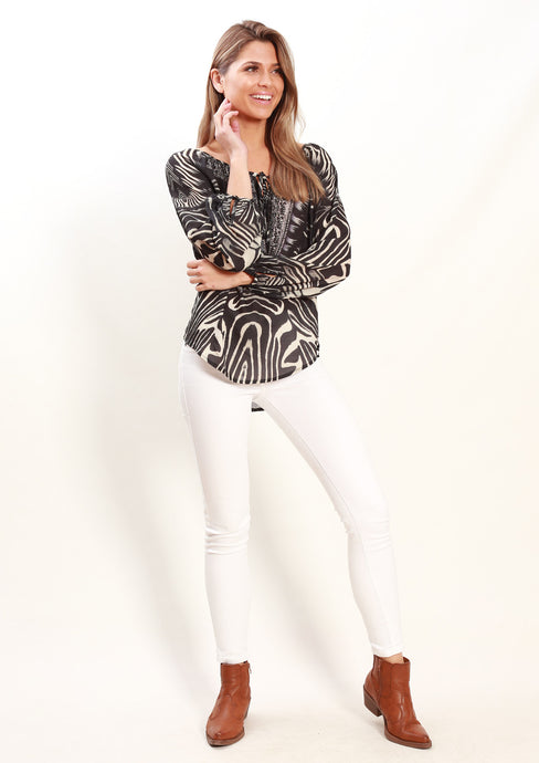 YW17161-3SS Zebar Print Top (Pack) New Arrivals