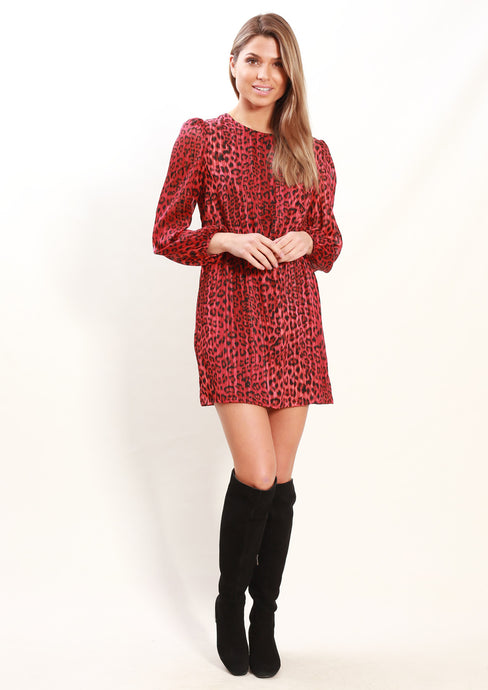 XW16071-3SS Red Leopard Print Dress (Pack) New Arrivals