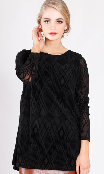 VS7414TB Burn-Out Long Sleeve Top (Pack) New Arrival