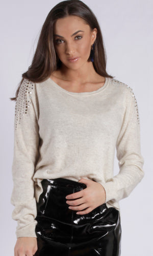 AL563SS Metallic Circle  Sweater (Pack) On Sale