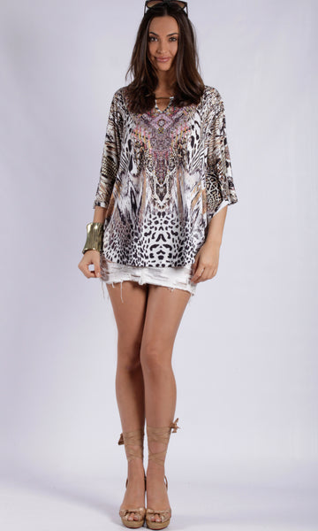 BT100214-33SS KAFTAN BAT-WING RELAXED OVERSIZED TOP (Pack)