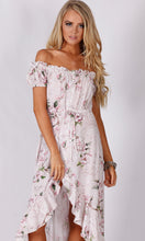RC0839-2TE Pastel Floral Ruffle Off Shoulder Dress (Pack)