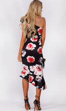 RV1023-3SS ONE SHOULDER BLACK FLORAL DRESS (Pack)