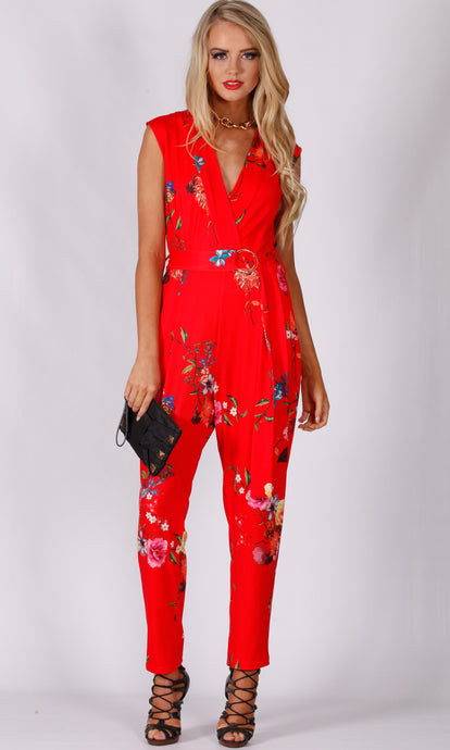 RV1188SS Red Oriental Jumpsuit (Pack)