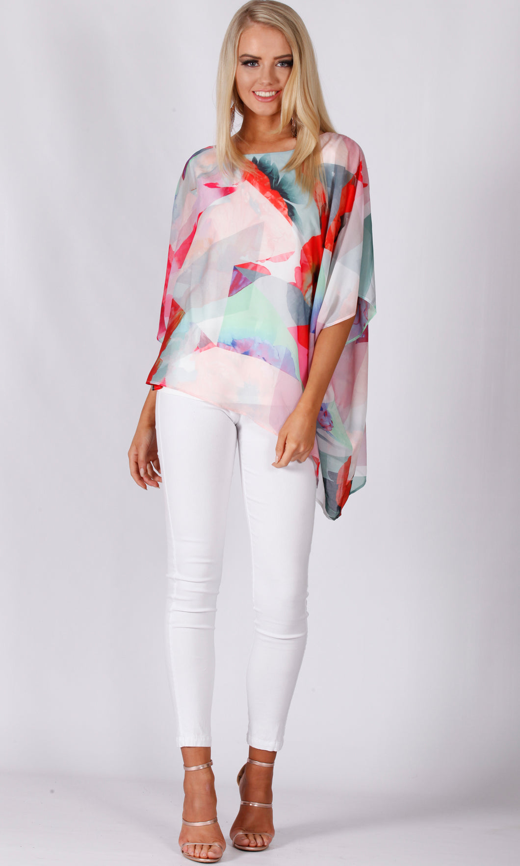 BS1016063-28TB FLORAL GEOMETRIC TOP (Pack) On Sale