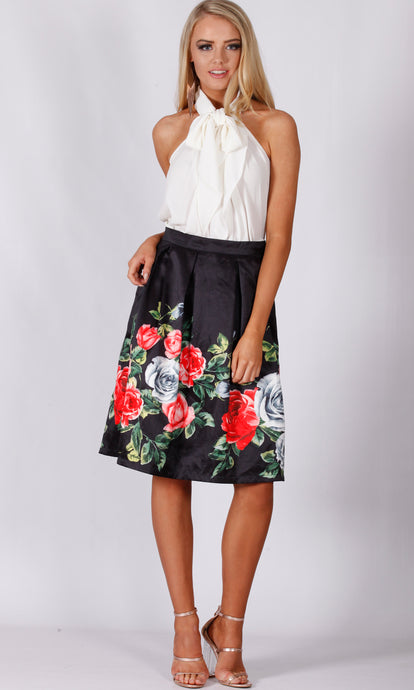 VS7201-2TB BOX PLEAT A LINE SKIRT (Pack)