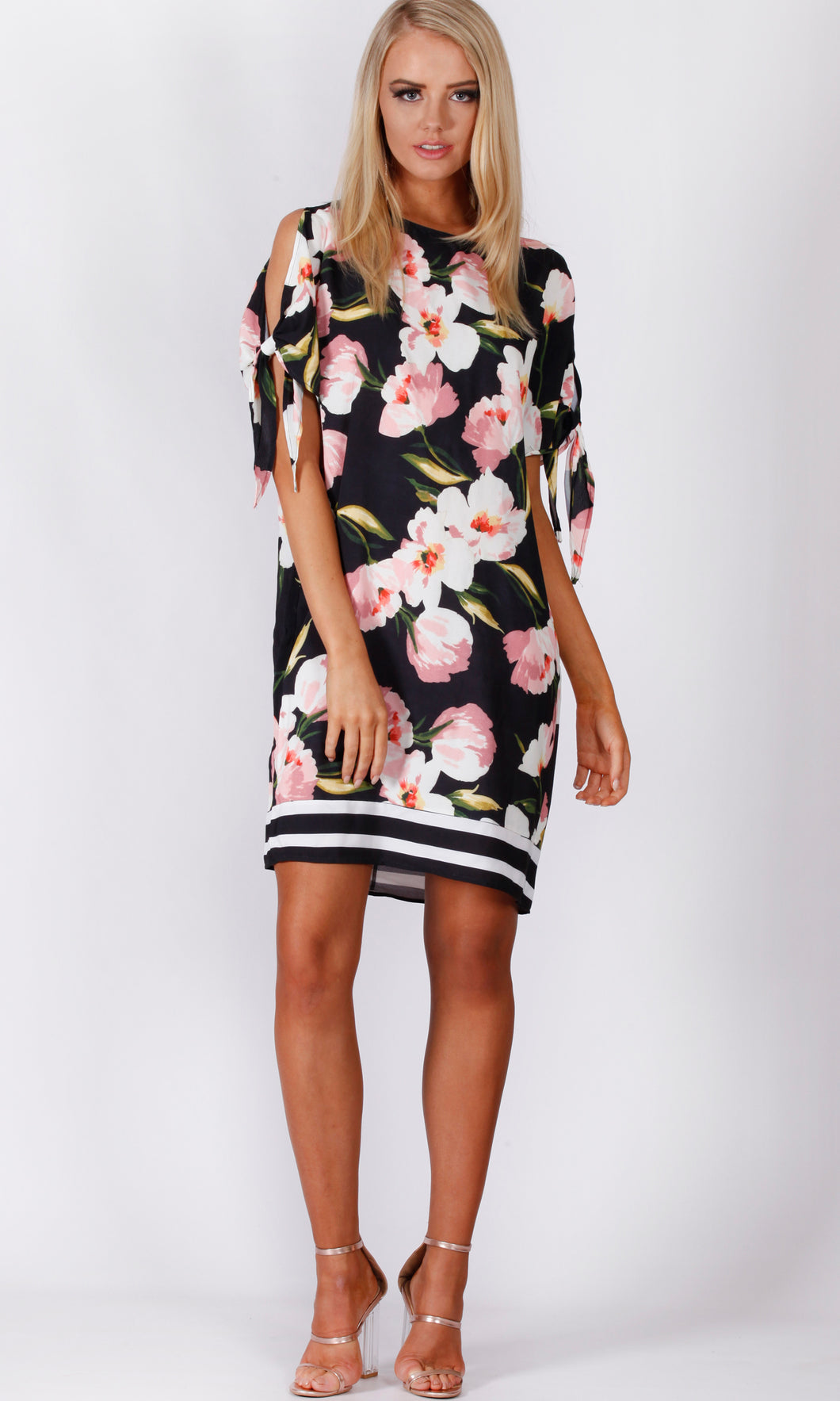 VS7161-3TB Loose Fit Floral Dress (Pack)