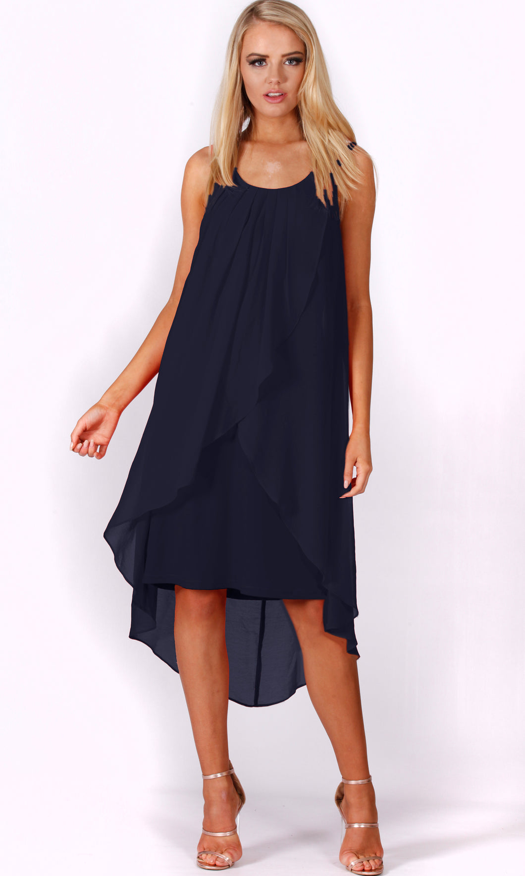 VS7276-1TB CHIFFON OVER LAY DRESS (Pack)