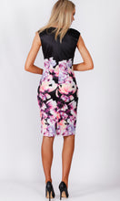 VS7278TB BLACK & PURPLE FLORAL MIDI DRESS (Pack)