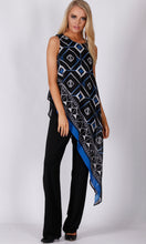 BS1116042-5TB Square Print Asymmetric Jumpsuit (Pack)
