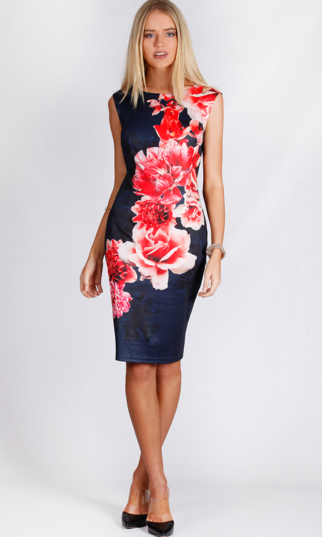 Shoulder Cut-Out Body Con Dress