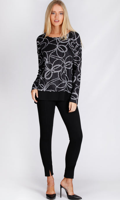 BS1016041-7NC Nautical Rope Print Long Sleeve Top (Pack) New Arrival