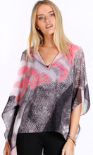 Graphic Print Kaftan High Low Top
