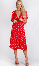 RV1139-1SS TIE FRONT FLORAL MIDI DRESS (Pack)