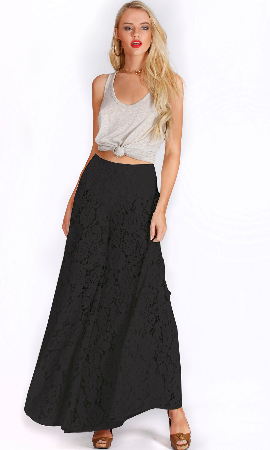 XW16153SS Lace Wide Leg Pants (Pack)