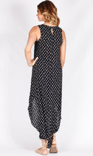 Diamond Print High Low Dress