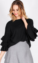 F2640SS Double Ruffle Sleeve Sweater (Pack)