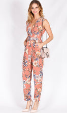 RV1188-4SS Beige Floral Buckle Jumpsuit (Pack)