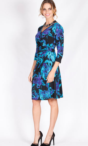 BD105314-26TB Blue Rose Wrap Style Dress (Pack)