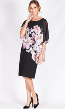 BS1016063-32NC Round Neck Chiffon Overlay Floral Dress (Pack)