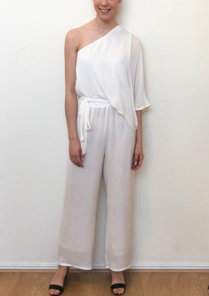 Q020SS One Shoulder Relaxed Jumpsuit (Pack) New Arrival