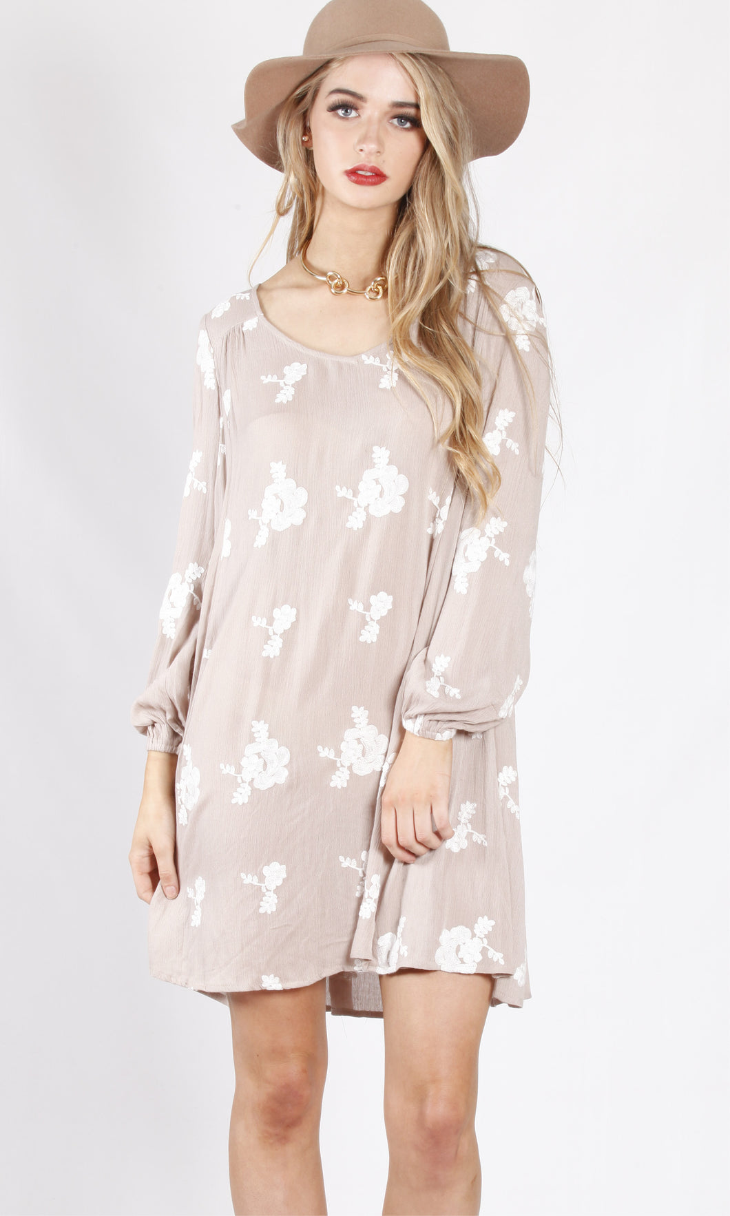 VY00418SS Floral Relaxed Fit Dress (Pack)