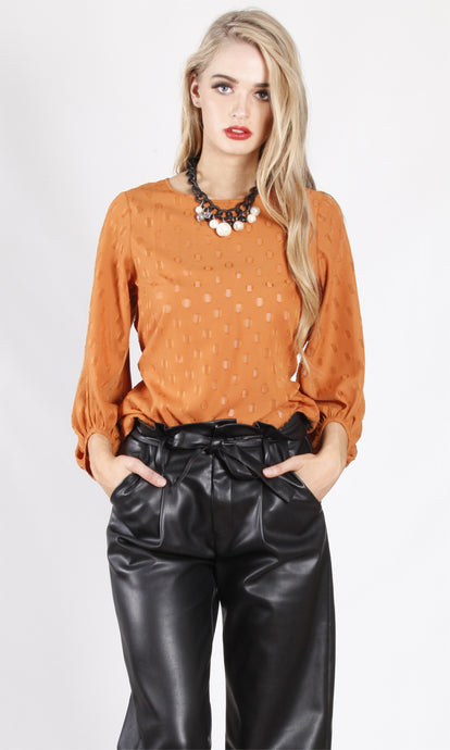 WW0017-3SS Balloon Sleeve Top With Waist Tie (Pack)
