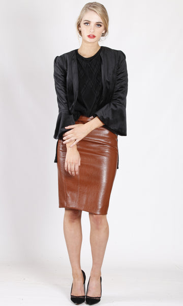 XW16200TB Cropped Structured Blazer (Pack)